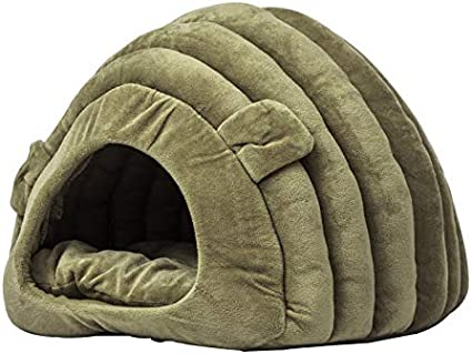 INMOZATA Cat Cave Bed Soft Warm Cat Bed Washable 42x38x33cm Cat Sleeping Bag for Kitten Puppy Small Dog Cats Grey