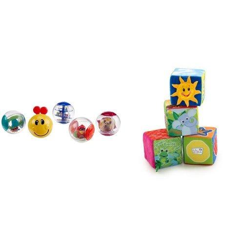 Soft Activity Blocks (Baby Einstein Roller-pillar Activity Balls and Explore & Discover Soft Blocks)