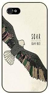 iPhone 6 Soar - Vintage eagle art - Isaiah 40:31 - Bible verse black plastic case / Christian Verses
