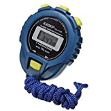 Rape Flower LCD Chronograph Digital Timer Stopwatch Sport Counter Odometer Watch Alarm