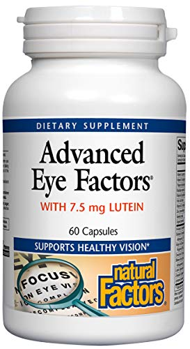 Natural Factors - Advanced Eye Factors, Supports Healthy Vision, 60 Capsules -