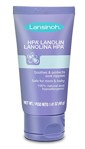 lansinoh lanolin nipple cream, 100% natural lanolin cream for breastfeeding, 1.4 oz tube