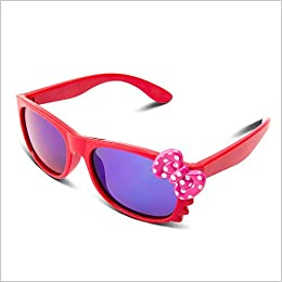 b1b9a892eb3 Amazon.com  RIVBOS RBK002 Rubber Flexible Kids Polarized Sunglasses for  Baby and Children Age 3-10 (Mirrored Lens Available)(14312-red mirror  lens)  Books