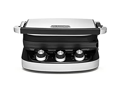 De'Longhi CGH902C 5-in-1 Ceramic Coated Grill, Griddle, and Panini, Black