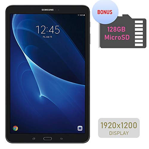 Samsung Galaxy Tab A 10.1'' Touchscreen (1920x1200) Wi-Fi Tablet, Octa-Core 1.6GHz Processor, 2GB RAM, 16GB Memory, Dual Cameras, Bluetooth, 128GB MicroSD Card, Android OS