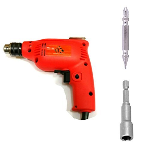 Toolscentre Drill Machine (6.5mm) With Reverse/Forward Facility For Drilling & Tightening Screws N Bolts(Red)