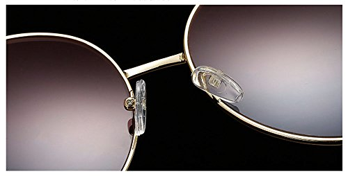 la coeur Rose forme protection UV de a UV lunettes et en Hellomiko métal mode polarisé Jaune de rétro La soleil de de wvqxX7p4