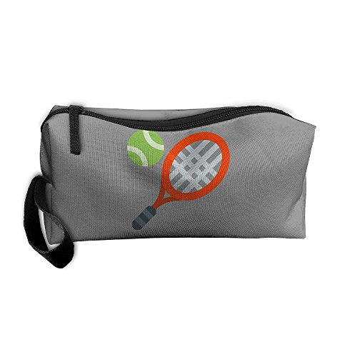 Tennis Racket Cosmetic Bag Travel Makeup Bag Organizer Beauty Bag Small Pouch (Tennis Gift Bag)