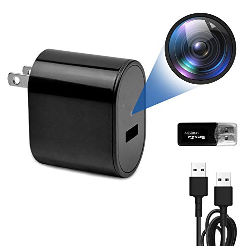 Spy Camera Charger, VSADEY Mini Hidden Camera Spy Camera with Full HD 1080P and Motion Detection, USB Charger Camera/ Hidden Spy Camera/ Nanny Camera/ Spy Cam/ Surveillance Camera for Home Security