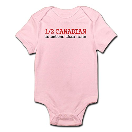 CafePress - Half Canadian - Cute Infant Bodysuit Baby Romper