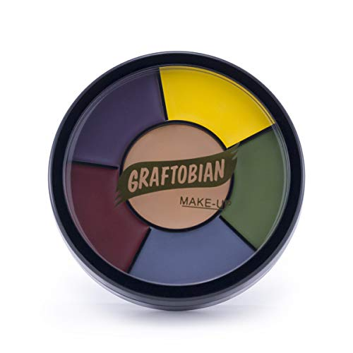 Halloween Face Paint Illusions (Graftobian Severe Trauma Bruise Makeup Wheel for Special Effects and Halloween - 6)