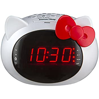hello kitty digital am fm clock radio with night light kitchen dining. Black Bedroom Furniture Sets. Home Design Ideas
