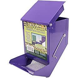 Ware Manufacturing 5-Inch Sifter Pet Feeder with Lid (Assorted Colors).