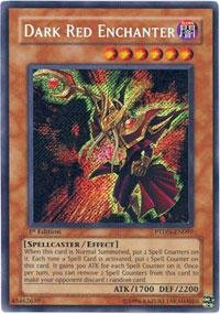 Yu-Gi-Oh! - Dark Red Enchanter (PTDN-EN097) - Phantom Darkness - Unlimited Edition - Secret Rare