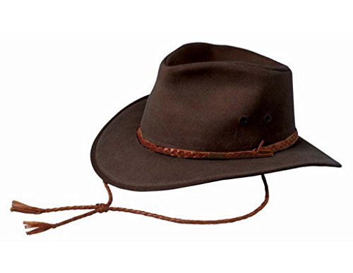 Oilskin Lightweight - Outback Trading Co Men's Co. Grizzly Upf50 Sun Protection Oilskin Hat Brown Small