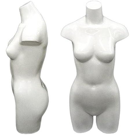 White Freestanding Ladies Torso Mannequin Form
