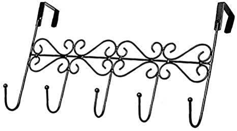 Haushalt Aufbewahrungshalter Bronze Wandhaken 5 Haken /über der T/ür h/ängend Eisenr/ückseite Venus valink T/ürgarderobe Badezimmer-Halter Handtuch Tasche Hut Mantel