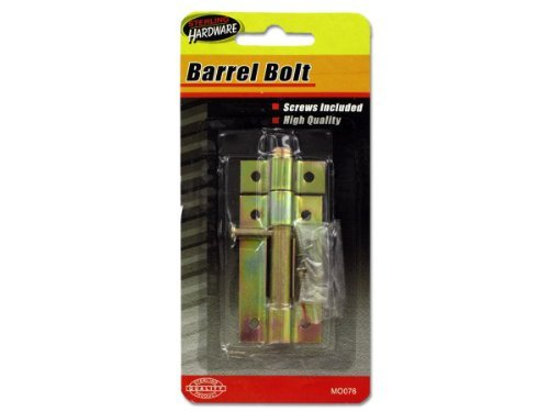 Sterling 3 Inch Home Safety Door Guard Lock Barrel Bolt With Screws 24 Pack by Kole Imports