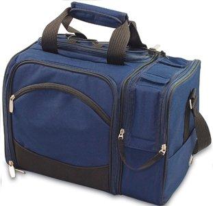 - Picnic Time Malibu Insulated Picnic Pack (Navy Blue Bag w/ Lattice Stripe Napkins)