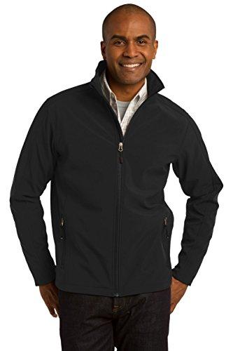 Port Authority Men's Tall Core Soft Shell Jacket. 3XLT Black