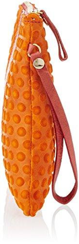Gattabuia Valeria, Borsa a Mano Donna, 29x22x2,5 cm (W x H x L) Multicolore (Ciliegia/Mandarino)