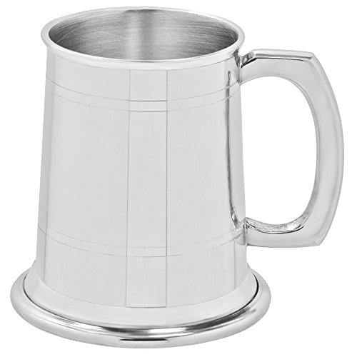 English Pewter Company Half Pint Straight 2 Line Pewter Beer Mug Tankard [HP001]