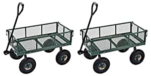 "Sandusky Lee CW3418 Muscle Carts Steel Utility Garden Wagon, 400 lb. Load Capacity, 21-3/4 Height x 34"" Length x 18"" Width (Pack of 2)"