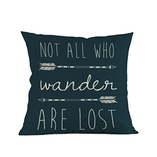 Price comparison product image fbR8wawOKPHoYL9 Pillow Covers Pillow Case,  Arrow Printing Sofa Bed Home Decoration Festival Pillow Case Cushion Cover (Multicolor C)
