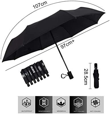 fit Cadillac JDclubs AUTO Open Large Folding Umbrella Windproof Sunshade with Car Logo