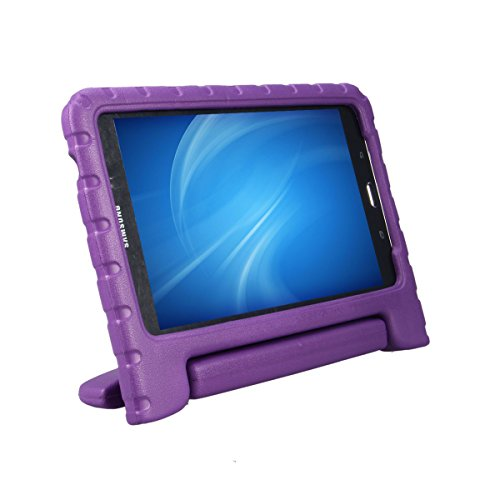 XKTTSUEERCRR Samsung Galaxy Tab 4 8.0 Kids Case, Shockproof Lightweight Super Protective Convertible Handle Stand Cover Case for Samsung Galaxy Tab 4 8.0 Inch Tablet (SM-T330 SM-T331 SM-T335) - Purple