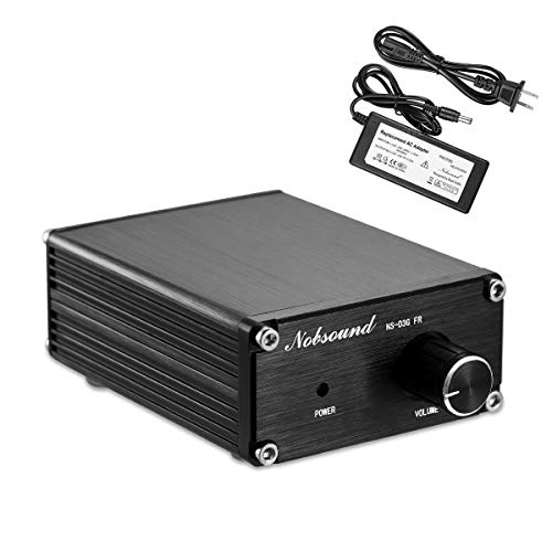 Nobsound 100W Full Frequency Mono Channel Digital Power Amplifier Audio Mini Amp Home Speaker with Power Supply (Black) ()