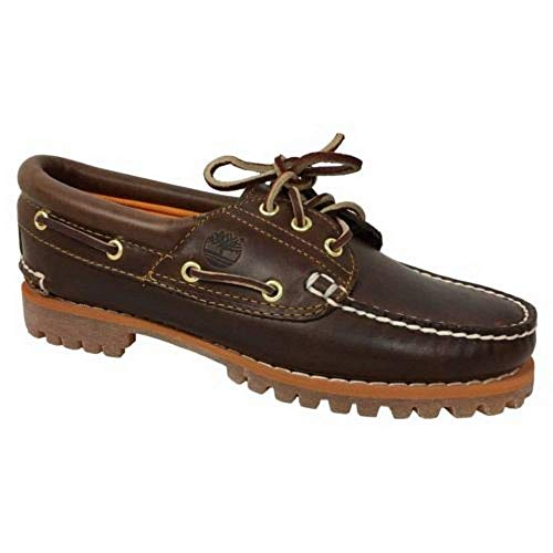Timberland Value Heritage Noreen 3 Eye Womens Brown Boat Shoes 8211A, 5.5