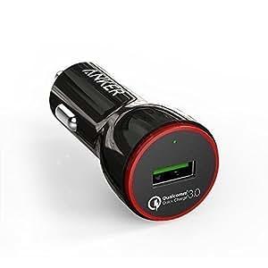 Anker PowerDrive+ 1 24W Quick Charge 3.0 USB Kfz Auto Ladegerät für Samsung Galaxy S8 /S7 / S6 / Edge / Plus, Note 4, Nexus, LG G5, iPhone, Smartphones, Tablets, Bluetooth Geräten, Powerbank usw.
