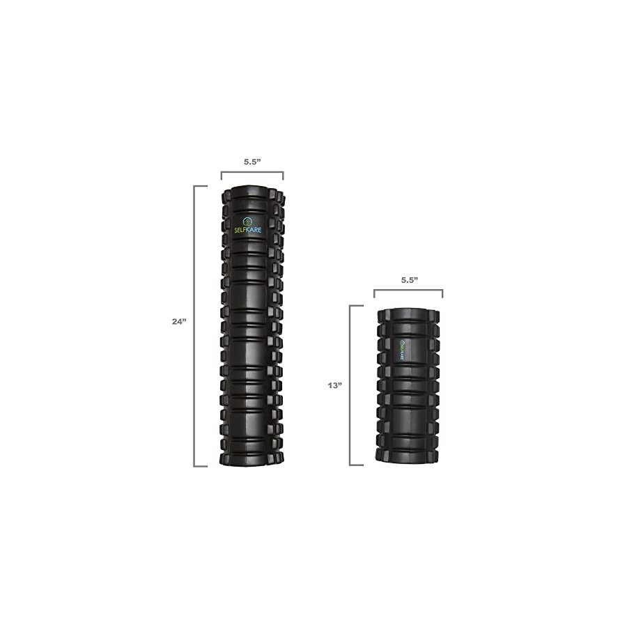 Foam Roller 24 inch Long Extra Firm, Sturdy Solid Core, High Density. Best Super Deep Muscles Massage for Your Legs (Hamstrings, Calves, Quads, IT Band) Arms and Back