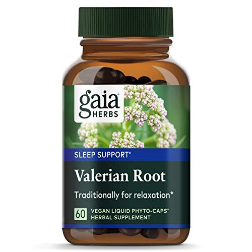 Gaia Herbs Valerian Root, Vegan Liquid Capsules, 60 Count - Relaxing Natural Sleep Aid with No Melatonin, Non-Habit Forming ()