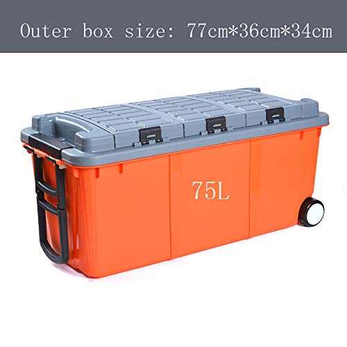 (AXWT Car Trunk Storage Box Storage Box Car Storage Supplies Car Debris Storage Box Car Finishing Box Pulley Storage Box (Color :)
