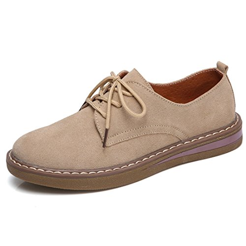 liso Jiyaru marrón cuero Zapatos cordones mujer de para xwSRqfBw