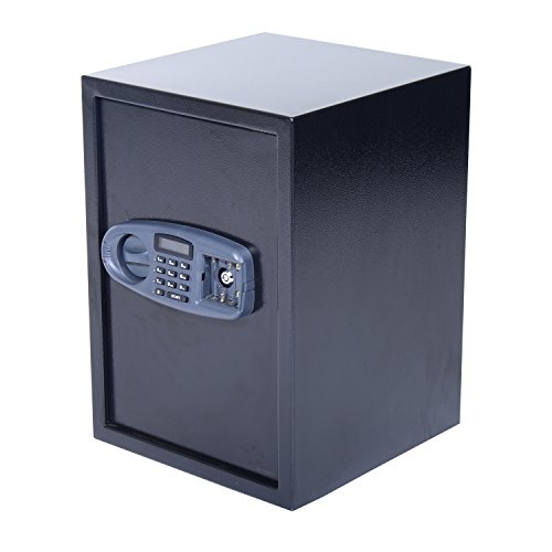 HomCom-20-x-14-x-14-Digital-3-Tier-Home-Security-Safe-Black
