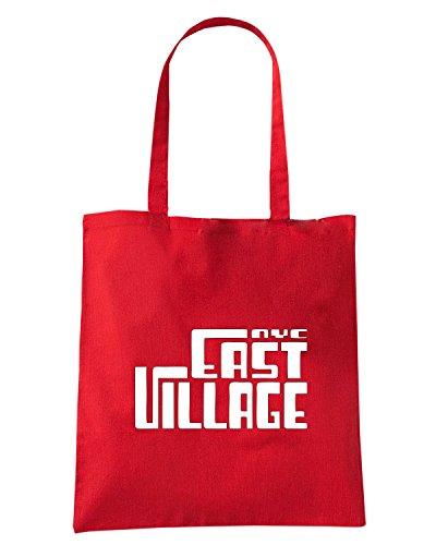 T-Shirtshock - Bolsa para la compra OLDENG00750 east village nyc Rojo
