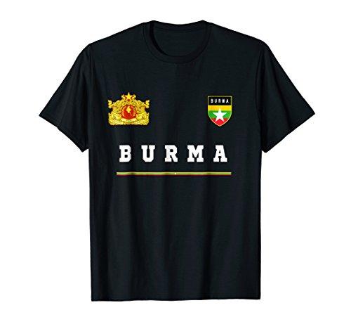 Burma T-shirt Sport/Soccer Jersey Tee Flag (Burma National Flag)
