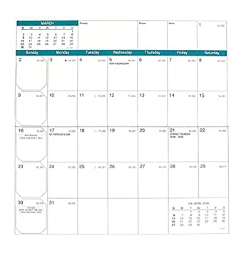 Events Usa January 2020.Quo Vadis 2020 Calendar Year Visoplan Refill Plain Edge Monthly Pocket Jan Dec 6 5 8 X 3 1 2 17 X 8 8 Cm Made In Usa