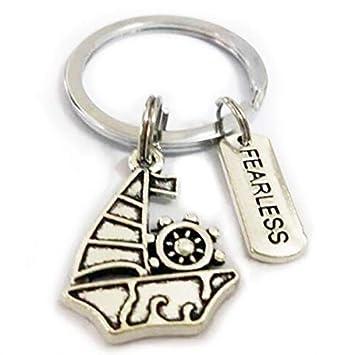 Llavero inspirador para regalos - llavero de barco de barco ...