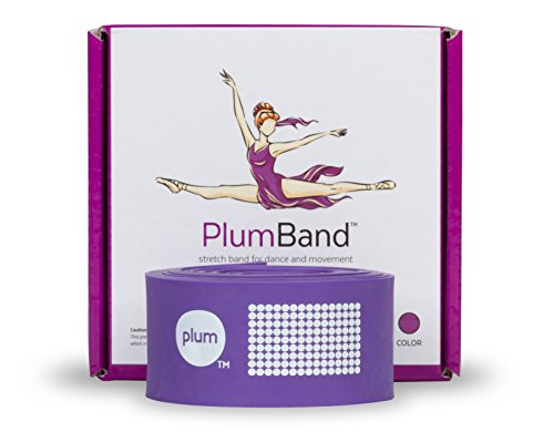 The PlumBand - Powerful Ballet Stretch Band for Taller and Older Dancers - Gift-Ready Box - Instruction Booklet and Travel Bag Included (Regular, Purple)