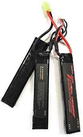 M110 M60 YUNIQUE Espagne/® Tactical Version 2S 7.4V Airsoft 1200mAh 25C Bater/ía de lipo con Mini Conector Tamiya para Fusil AK C85