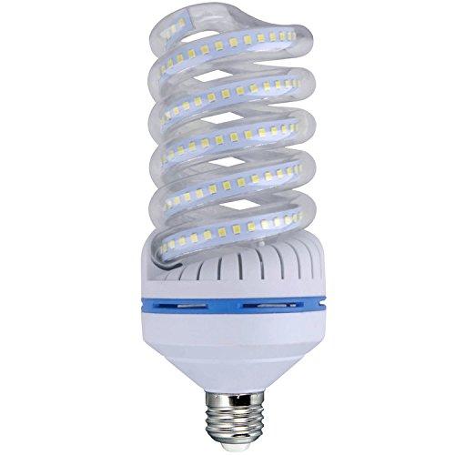 OUYIDE Spiral LED Corn Light Bulbs 55W LED Bulbs daywhite 6000K E26 Socket (Spiral 55w)