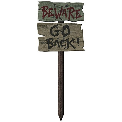Amscan Go Back Yard Stake, Halloween Decoration 21 1/2