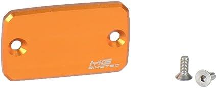 Tapa de l/íquido de frenos aluminio naranja delantera KTM SM 690/  KTM SM 690/Prestige MG de Biketec para KTM 690/Duke ABS KTM SMC 690/  KTM SMC R 690