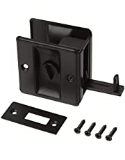 idh by St. Simons 25411-019 Premium Quality Solid Brass Pocket Privacy Door Pull, Matte Black