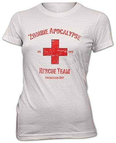 Monkey Print Zombie Mujer Camiseta Divertida Zombie Apocalypse Rescue Team Tee CAMISA S a XXL -
