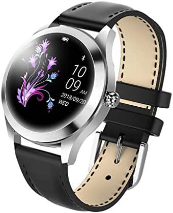 Hongxin KW10 Smart Watch, IP68 Waterproof Heart Rate Monitoring Bracelet Fitness for Android iOS,Multiple Language,Multiple Sports Modes,smartwatch for Women/Men Kids (Black)